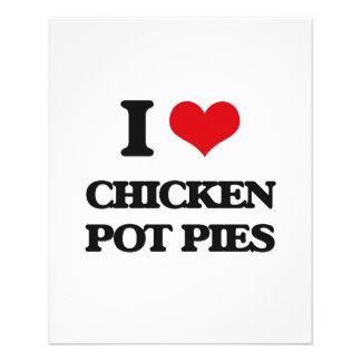 I love Chicken Pot Pies 11.5 Cm X 14 Cm Flyer