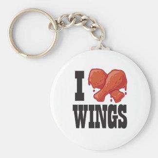 I Love Chicken Wings Key Ring