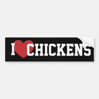 I love chickens Bumper Sticker Car Bumper Sticker
