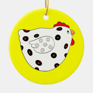 I LOVE CHICKENS CHRISTMAS ORNAMENT