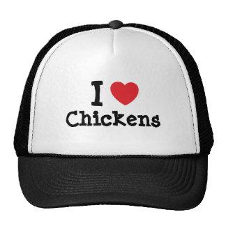 I love Chickens heart custom personalized Cap