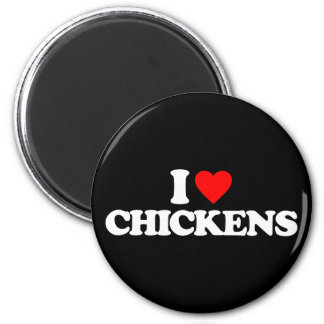 I LOVE CHICKENS MAGNET