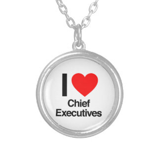 i love chief executives round pendant necklace