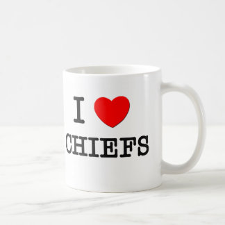 I Love Chiefs Basic White Mug