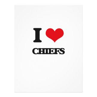 I love Chiefs 21.5 Cm X 28 Cm Flyer