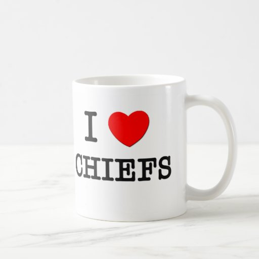 I Love Chiefs Coffee Mug