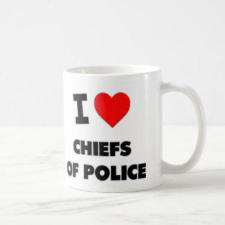 I Love Chiefs Of Police Basic White Mug