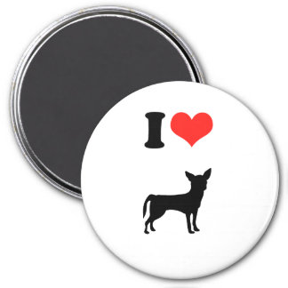 I Love Chihuahua 7.5 Cm Round Magnet