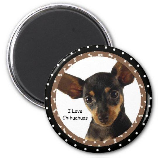 I love Chihuahuas Magnet