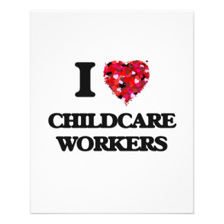 I love Childcare Workers 11.5 Cm X 14 Cm Flyer