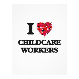 I love Childcare Workers 21.5 Cm X 28 Cm Flyer