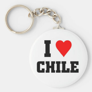 I love Chile Basic Round Button Key Ring