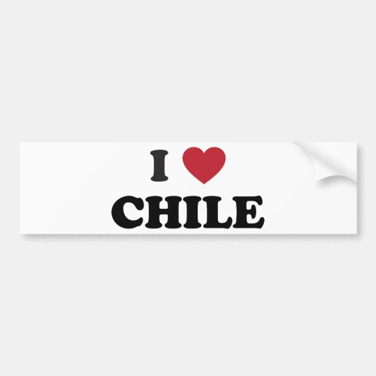 I Love Chile Bumper Sticker