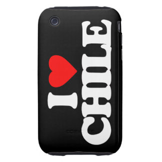 I LOVE CHILE iPhone 3 TOUGH COVERS