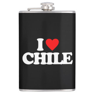 I LOVE CHILE HIP FLASK