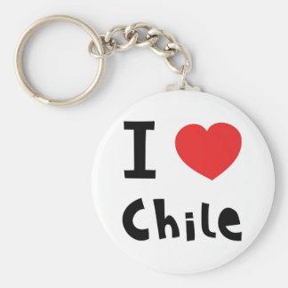 I love chile keychain