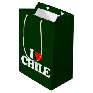 I LOVE CHILE MEDIUM GIFT BAG