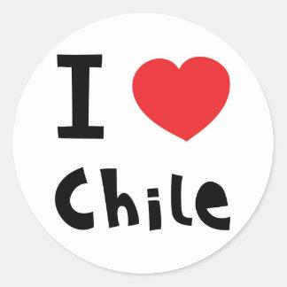 I love chile round sticker
