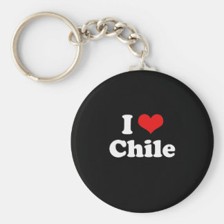 I Love Chile Tshirt Basic Round Button Key Ring