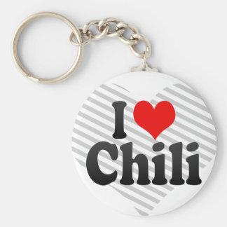 I love Chili Basic Round Button Key Ring