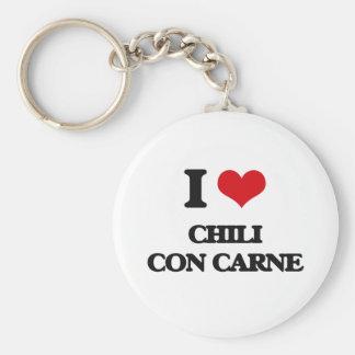 I love Chili Con Carne Key Chains