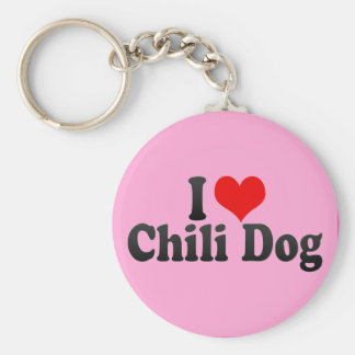 I Love Chili Dog Key Chain