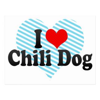 I Love Chili Dog Post Card