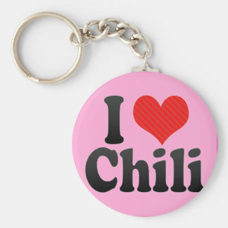 I Love Chili Key Ring