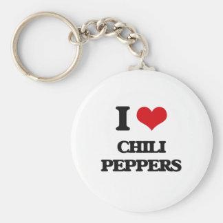 I love Chili Peppers Key Chain
