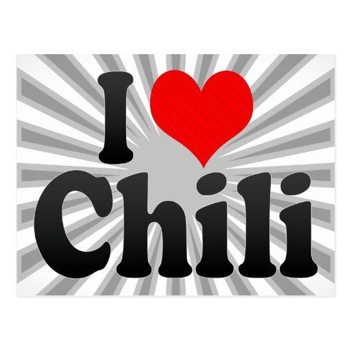 I love Chili Post Card