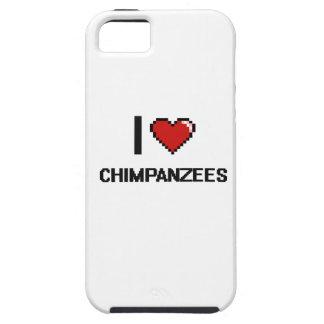 I love Chimpanzees Digital Design Case For The iPhone 5