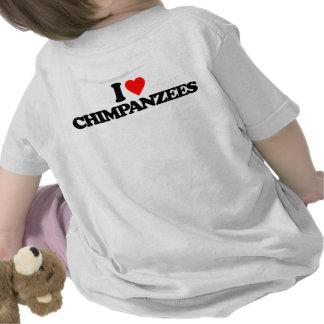 I LOVE CHIMPANZEES T SHIRTS
