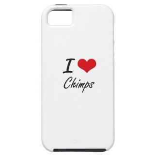 I love Chimps Artistic Design Tough iPhone 5 Case