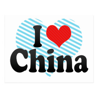 I Love China Postcard
