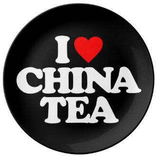 I LOVE CHINA TEA PORCELAIN PLATE