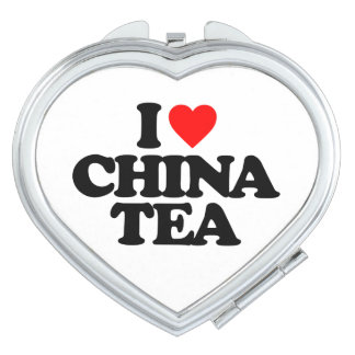 I LOVE CHINA TEA COMPACT MIRRORS