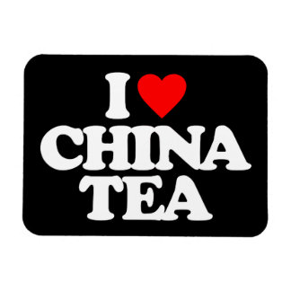 I LOVE CHINA TEA RECTANGLE MAGNETS