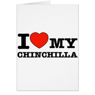 I Love chinchilla Greeting Cards