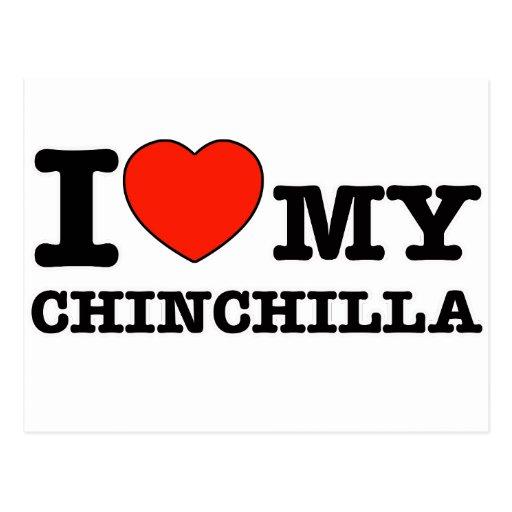 I Love chinchilla Postcards