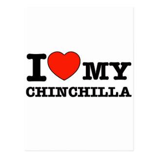 I Love chinchilla Post Card