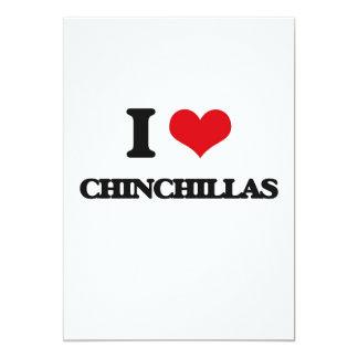 """I love Chinchillas 5"""" X 7"""" Invitation Card"""