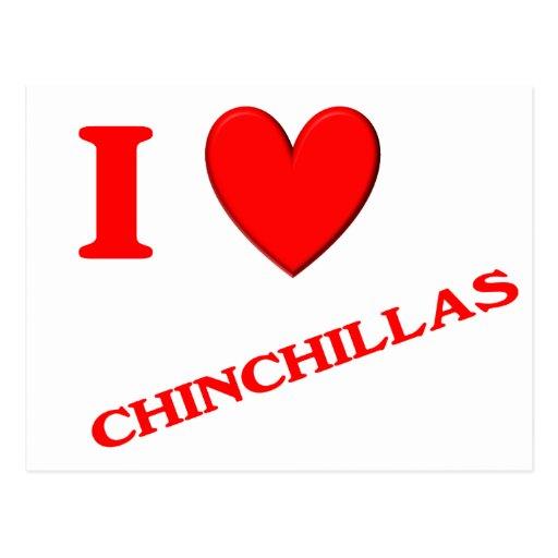 I Love Chinchillas Postcards