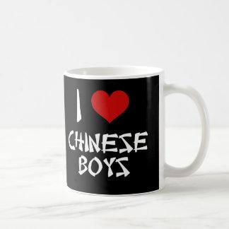 I Love Chinese Boys Basic White Mug