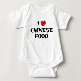 I Love Chinese Food Baby Bodysuit