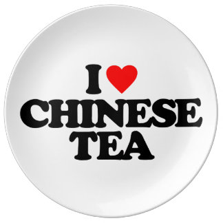 I LOVE CHINESE TEA PORCELAIN PLATES
