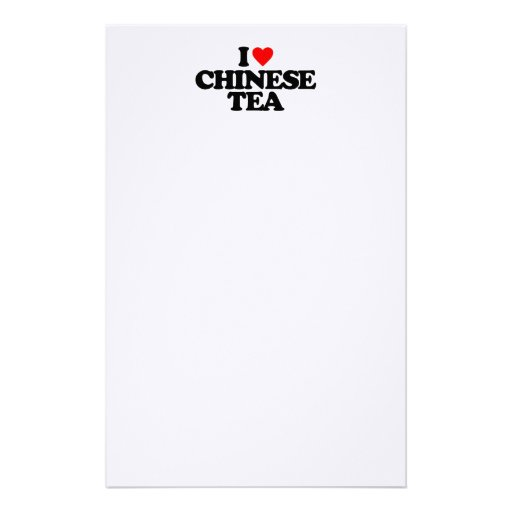 I LOVE CHINESE TEA STATIONERY DESIGN
