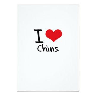 I love Chins 13 Cm X 18 Cm Invitation Card