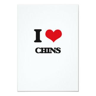 I love Chins 9 Cm X 13 Cm Invitation Card