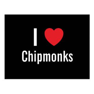 I love Chipmonks Postcards