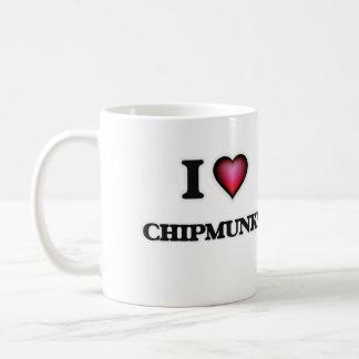 I Love Chipmunks Basic White Mug